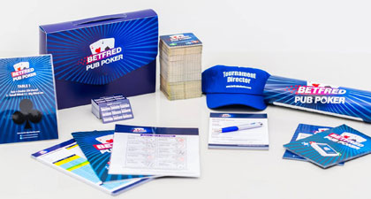 My team and I created the Betfred Pub Poker brand from scratch. The brand had to stand out as Betfred while still having its own identity. We wrote guidelines and ensured consistency across all products